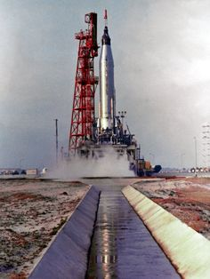 NASA's Mercury Atlas Rocket with Aurora 7 space capsule that launched Astronaut Carpenter into space.