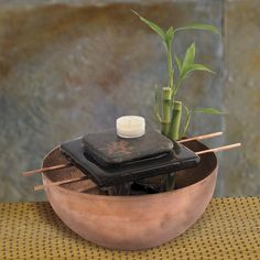 Http diy indoor bamboo tabletop for Homemade tabletop water fountain