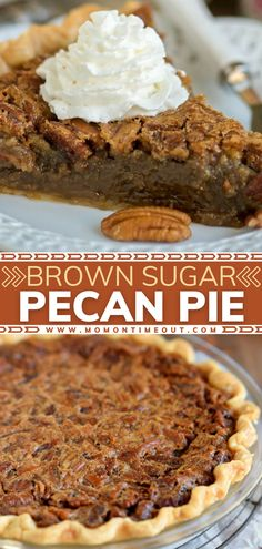 Say hello to the BEST Brown Sugar Pecan Pie! You have all the ingredients on hand for this easy Thanksgiving dessert. Not only does it bake up beautifully, but the filling is absolutely divine. Plus, there is no corn syrup in this make-ahead recipe! Save this and try it!