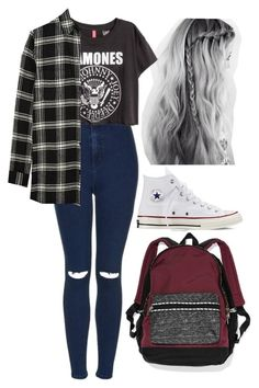 """""""Sin título #781"""" by candiibella ❤ liked on Polyvore featuring Topshop, Converse, Madewell and Victoria's Secret"""
