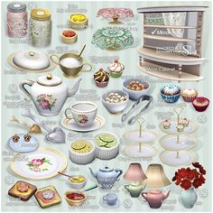 TEA TIME set 21 New Meshes *donation and free by Simcredible • Sims 3 Downloads CC Caboodle
