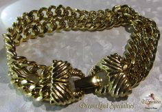 Goldette Two Strand Chain Bracelet Vintage by DLSpecialties, $29.00