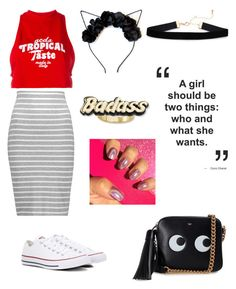 """""""paradise"""" by thatimr ❤ liked on Polyvore featuring GCDS, Bailey 44, Converse, Anya Hindmarch and Steve Madden"""