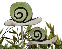This article is not available Garden Snail Art - Plant Stake - Garden Decor - Snail Ornament - Ceramic Snail - Small - Green. Ceramic Animals, Ceramic Art, Art Floral, Snails In Garden, Garden Snail, Snail Art, Mandala Painted Rocks, Paper Mache Sculpture, Chicken Art