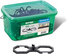 SPAX terrace AIR distance holder, 100 pieces in Henkel box. -ensures an optimal ventilation. Internal Affairs, Gardening Supplies, Stock Market, Box, The 100, Home And Garden, Landscape, Landscaping