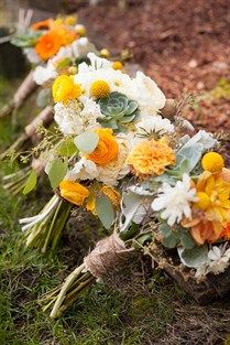 Perfect bouquet for an outdoor ceremony