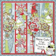 Snow Cute Page Borders