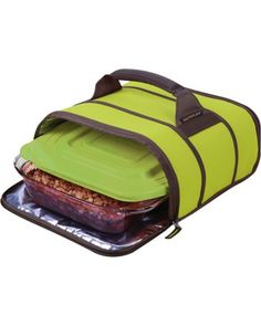 We're ready for warm weather picnics! This stylish insulated baking dish transports easily, is leak-proof, and keeps food warmer longer. Click above to buy one.