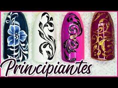4 ARABESCOS faciles en uñas - arabescos en uñas paso a paso - arabesque nail art - YouTube Butterfly Nail Art, Ingrown Toe Nail, Nail Spa, Toe Nails, Pedicure, Nail Designs, About Me Blog, Make It Yourself, Photo And Video