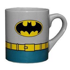 Batman DC Comics Costume Superhero Ceramic Coffee Mug via: http://goo.gl/uyq2Z