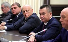 Former Russian regional leaders at the meeting with the President of Russia in the Kremlin.
