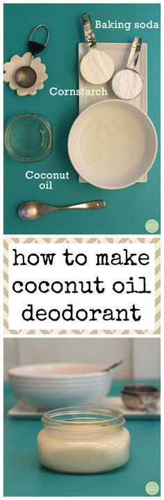 How to make coconut oil deodorant with just 3 ingredients. It really works & it's vegan! | cadryskitchen.com