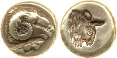 Electrum coin. - Lesbos, Greece - British Museum