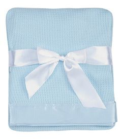 The best baby blanket. Starting Out Satin-Trim Blanket Car Seat Blanket, Crib Blanket, Stroller Blanket, Blue Blanket, Best Baby Blankets, Receiving Blankets, Thermal Blanket, Blue Waffle, Unique Baby Gifts