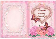Name Meaning Card Margaret on Craftsuprint - Add To Basket!