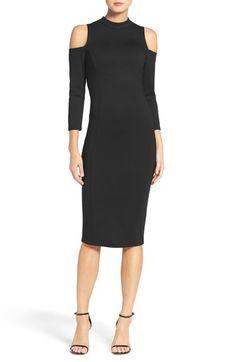 Main Image - Felicity & Coco Cold Shoulder Midi Dress (Nordstrom Exclusive) $98