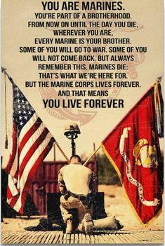 Once a Marine, always a Marine. Marine Corps Quotes, Marine Corps Humor, Us Marine Corps, Marine Corps Tattoos, Marine Corps Birthday, Marine Flag, Marine Tattoo, Marine Raiders, Military Quotes