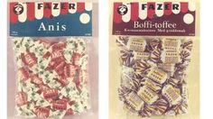 Fazerin Anis ja Boffi-toffee.