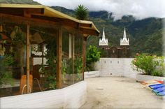 Hostal Plantas y Blanco - great place to stay in banos, Ecuador. I made a promise to come back!