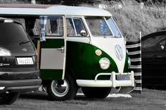 Limited Edition 8x10 Signed Print  'Green VW by thelongwayround