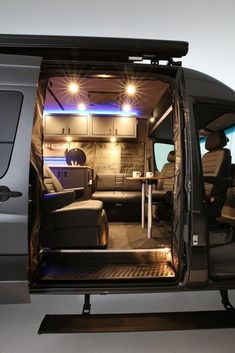 "Outstanding ""travel trailers"" detail is readily available on our web pages. Check it out and you wont be sorry you did. Van Conversion Campervan, Van Conversion Interior, Sprinter Van Conversion, Volkswagen Bus, Sprinter Camper, Benz Sprinter, Camper Van Shower, Tyni House, Luxury Van"