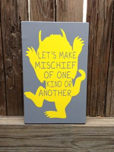 CUSTOM Where the Wild Things Are  Let's Make by LilMissScrappy, $16.95.  For Philips room