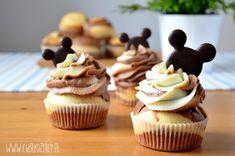 Babeczki z Myszką Miki - CIASTKOŻERCY.PL Mini Cupcakes, Nutella, Mickey Mouse, Food And Drink, Sweet, Party, Cook, Dessert Ideas, Poland