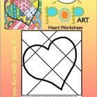 Enjoy this fun, easy and FREE lesson from Art with Jenny K. Students will fill in the heart with all different patterns, color, cut it out and hang...