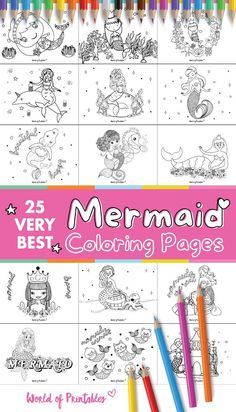 If you love mermaids then you will love the very best Mermaid Coloring Pages we have right here. These free printable mermaid coloring pages are perfect for both children and adults as we have a mix of easy and more intricate mermaid drawings. These mermaid coloring pages are also a great acitivity for a mermaid themed birthday party too! Mermaid Coloring Pages, Coloring Pages For Kids, Adult Coloring, Mermaid Theme Birthday, Birthday Party Themes, Mermaid Drawings, Mermaids, Free Printables, Children