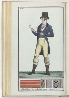 Le Mois, Journal historique, littéraire et critique, avec figures, Tome 3, No. 8, An. 8 (1799-1800) : Echantillons de Satins..., anoniem, 1799