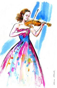 Hilary_Hahn_29_10_16 | daily sketch 334. Hilary Hahn #365ske… | Flickr