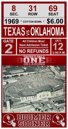 Cotton Bowl Ticket II
