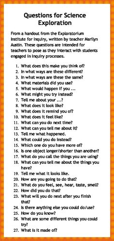 Questions to use during inquiry work, to encourage deeper thinking .....Follow for Free 'too-neat-not-to- keep' literacy tools  fun teaching stuff :)