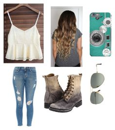 """""""Untitled #127"""" by iluv21 ❤ liked on Polyvore featuring Frame Denim, Frye and Ray-Ban"""