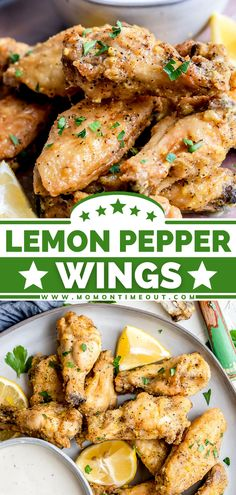 One of the best air fryer recipes you will ever try! Thanks to a few tips and tricks, these easy Lemon Pepper Chicken Wings are extra crispy. The mouthwatering sauce makes them finger-licking good! Enjoy them as an appetizer for parties or the main dish for dinner! Air Fryer Recipes Chicken Wings, Crispy Baked Chicken Wings, Chicken Thigh Recipes Oven, Chicken Recipes, Oven Chicken, Boneless Chicken, Broccoli Recipes, Air Fryer Dinner Recipes, Appetizer Recipes