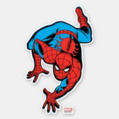 Shop Retro Spider-Man Wall Crawl Sticker created by marvelclassics. Laptop Stickers, Cute Stickers, Happy Stickers, Star Stickers, Printable Stickers, Spiderman Stickers, Spiderman Comic Books, Personalized Stickers, Aesthetic Stickers