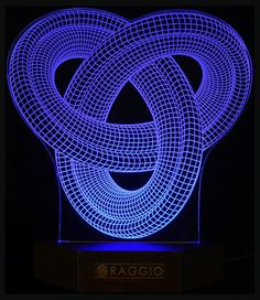 laser engraved acrylic decor led lighting www.raggio.eu #decor #leddecor #ledlighting #3D #ilusion3D