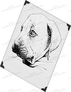 Sad Dog Art Face Illustration Coloring Page