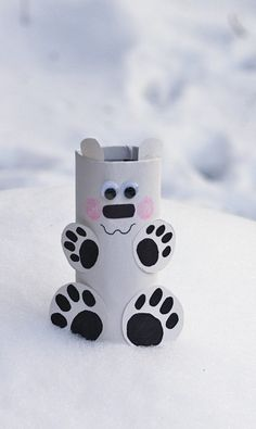 Cardboard Tube Polar Bear @amandaformaro Crafts by Amanda