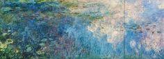falsi d autore, stampe di quadri e riproduzioni dipinte del dipinto Ninfee, Pannello C II di Claude Monet