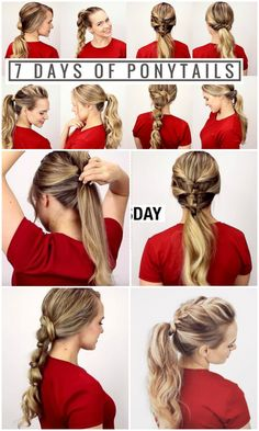 Changing Your Ponytail Hairstyle Everyday From Now On-7 Fancy Ponytail Hairstyle Tutorial For A Week => http://www.fabartdiy.com/fancy-ponytail-hairstyle-tutorial/ #Hairstyle, #Ponytail