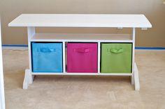 Kid's Elementary Trestle Storage Play Table | Ana White