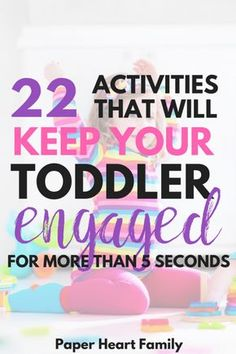 Engaging Toddler Activities- Is your toddler's attention span really, really short? These activities are pure toddler fun. These are simple, fun ideas to keep toddlers busy at home. Toddler Play, Toddler Learning, Toddler Snacks, Toddler Preschool, Toddler Crafts, Toddler Stuff, Montessori Toddler, Baby Play, Teaching Kids