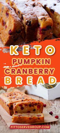 Pumpkin Cranberry Bread, Healthy Pumpkin Bread, Pumpkin Chocolate Chip Bread, Chocolate Chip Recipes, Low Carb Deserts, Low Carb Sweets, Fresh Cranberry Recipes, Starbucks Pumpkin Bread, Low Carb Bread