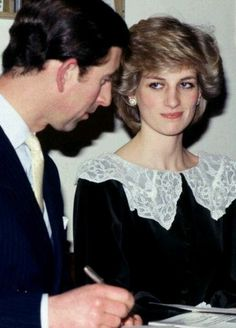 The Prince and Princess of Wales visit Manchester at Christmas, England 1983.