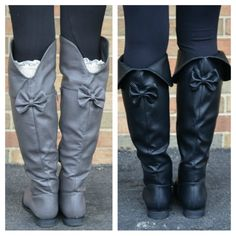 Bow Back Boots- want