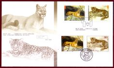 Canada 2005 Big Cats / FDC / Cougar and leopard / Canada-China joint issue