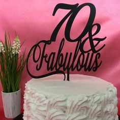 Our 70 & Fabulous cake topper is unique. We have laser cut this item from recycled fiber board, with the utmost care. What colors can I get