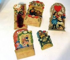 A set of 1920s-40s #3D #vintage #Valentine's Day cards. check out the full article at http://inondate.ie/fun/vintage-valentines-cards/