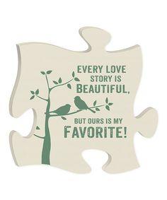 'Favorite Love' Puzzle Piece Wall Art by P. Graham Dunn #zulily #zulilyfinds